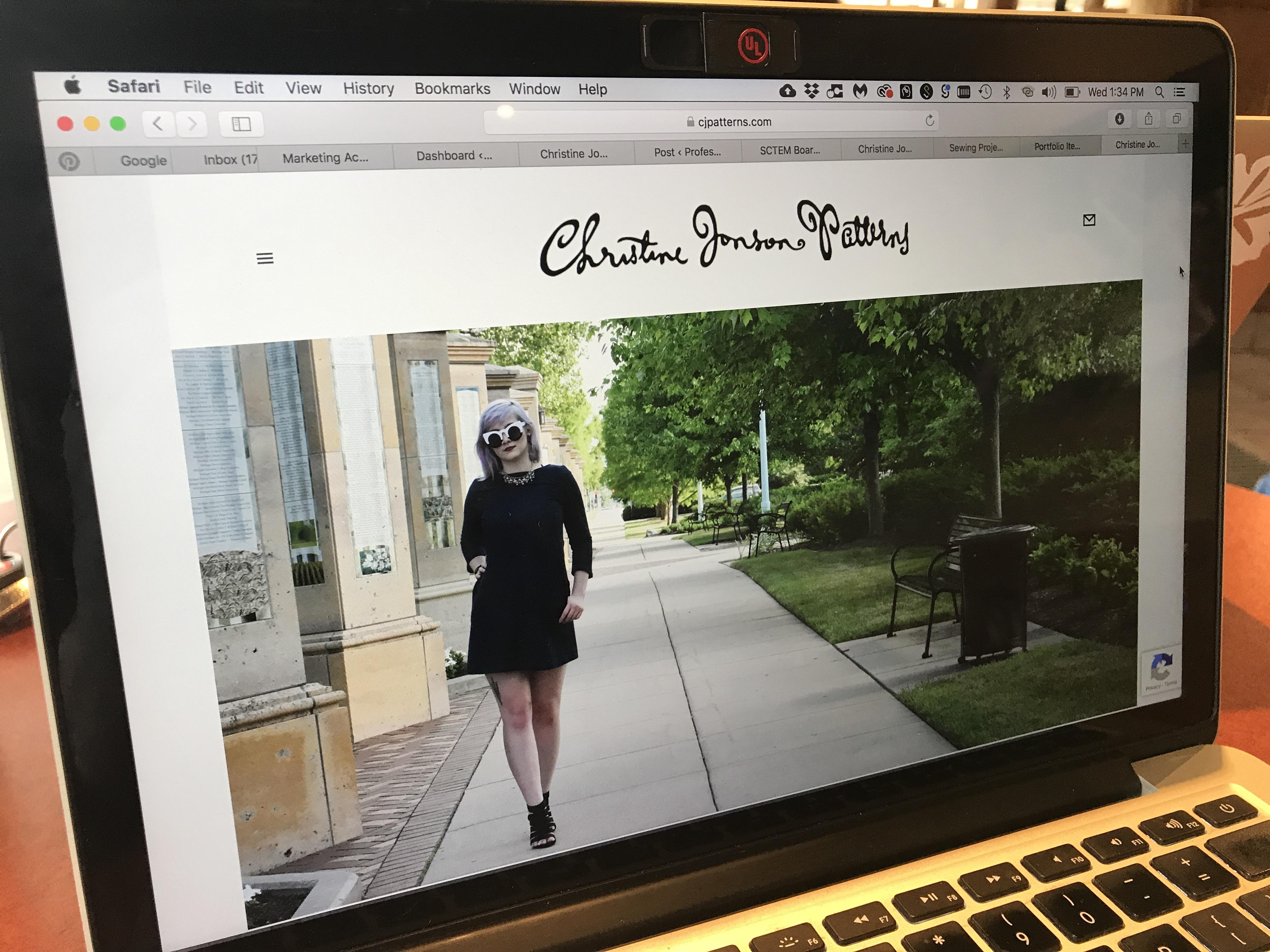 Sewing pattern web site design & development