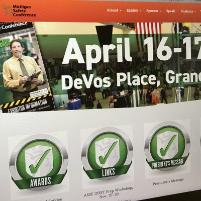 east lansing michigan web site design michigan safety conference wordpress